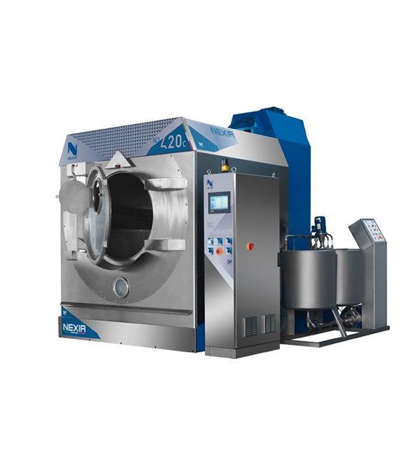 ND 420C: Lavacentrifuga industriale per tintura e lavaggio capi confezionati