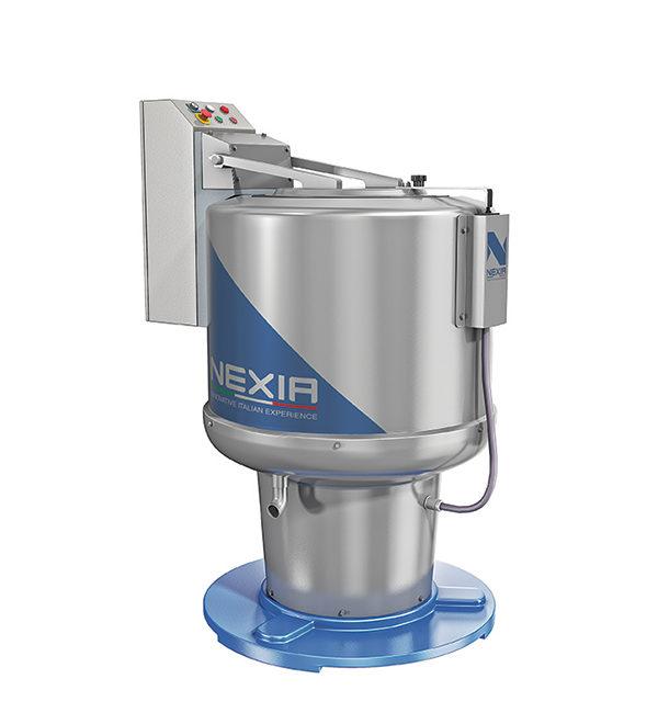 NHEX: Idroestrattore verticale per centrifuga di indumenti confezionati